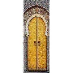 Papier Peint Pour Porte Trompe L Oeil Déco Porte Orientale Réf 621  Dimensions   93x204cm