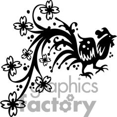 chinese swirl floral design 073