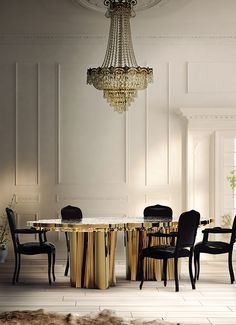 LUXURY BRANDS | Fortuna Dining Table by Boca do Lobo. This dining table designed by the Portuguese design studio will be the star of any décor | www.bocadolobo.com | #luxuryfurniture