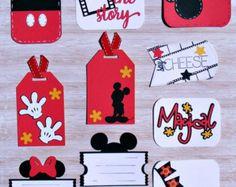 Handmade Mickey and Minnie Die Cut by BumpOfKnowledge on Etsy Disney Diy, Deco Disney, Disney Cards, Disney Theme, Vacation Scrapbook, Disney Scrapbook Pages, Baby Scrapbook, Scrapbook Cards, Scrapbook Layouts
