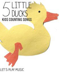Five Little Ducks Went Swimming One Day - Counting Songs Preschool Music, Music Activities, Preschool Lessons, Preschool Classroom, Teaching Music, Toddler Preschool, Music Classroom, Infant Activities, Preschool Ideas