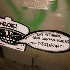 Ein Irrelefant! (via Make Tea not Love) Was ist gross, grau und total egal? was first seen on Dravens Tales from the Crypt.