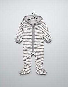 striped velour onesie | zara mini