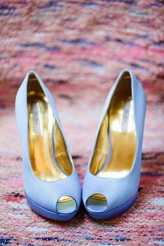 blue wedding shoes... Could they be Cinderella's, in THAT shade of blue?