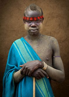 Bodi tribe man, Omo Valley, Ethiopia