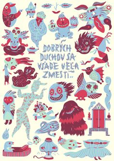 There is a plenty of room for Good Spirits... by Daniela Olejníková, via Behance