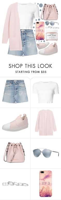 """""""Adidas"""" by sanela-enter ❤ liked on Polyvore featuring RE/DONE, Rosetta Getty, adidas, By Malene Birger, Armani Jeans, Christian Dior, Kendra Scott, Casetify and Herbivore"""