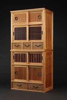 japanese tansu, mizuya/kitchen cabinet : lot 8107 | organize