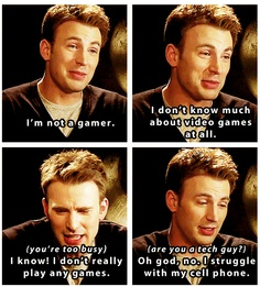 Marvel: The Avengers - Captain America AWWWWWWWWWWW HE IS SO STINKING ADORABLE