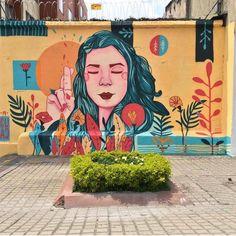 Graffiti Murals, Murals Street Art, Street Art Graffiti, Street Art Love, Amazing Street Art, Mural Wall Art, Mural Painting, Unique Drawings, Art Drawings