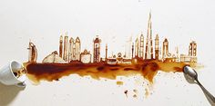 Spilled Coffee Art... would love to have this as a print in the kitchen