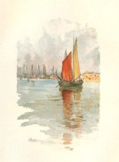 Woodboats And Dogana Canvas Print / Canvas Art by Hassam Childe Claude Monet, American Impressionism, Art Database, Art Sketchbook, American Artists, Painting Inspiration, Painting & Drawing, Watercolor Paintings, Watercolours