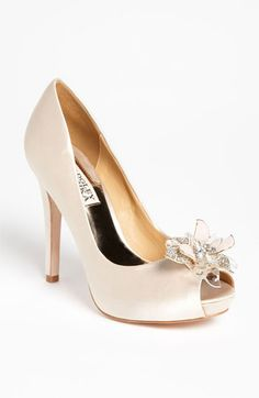Badgley Mischka 'Cleone' Pump available at #Nordstromweddings    If only I wasn't soo tall already!