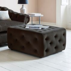 Havannah Brussels Ottoman  A design classic with generous button detailing for the ultimate in comfort and luxury.