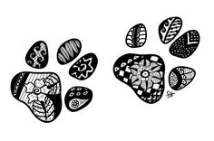 Zentangle Paw Prints by Doerki