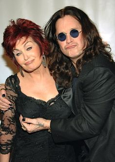 Sharon and Ozzy Osbourne, hahaha they are so adorbs.