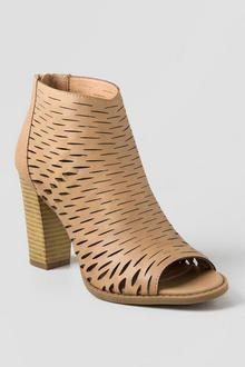 ccf871e35a5 Reign Laser Cut Peep Toe Heel Women s Shoes Sandals