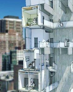 یه برش باحاله دیگه... #معماری #ساختمان by architecture.idea