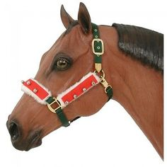 CHRISTMAS HORSE WEAR - Halter / Bridle Bell Set for horses - Holiday Horsewear