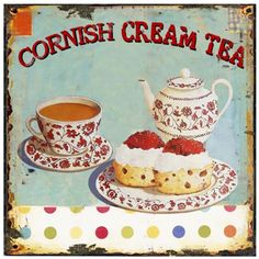 Cream tea sign