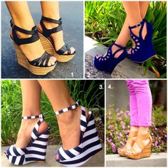 Life is always better in a pair of Wedges! Which one of these do you want?