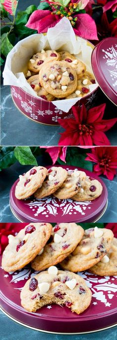Creamy white chocolate, tangy dried cranberries and a touch of orange zest all wrapped up in a soft and chewy cookie!