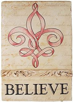 the tattoot that i want to get and also have it say Semper Fidelis through it...without the believe part :)