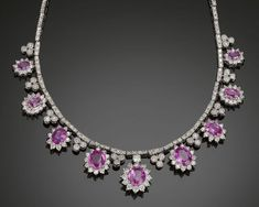 pink sapphire and diamond necklace - Google Search