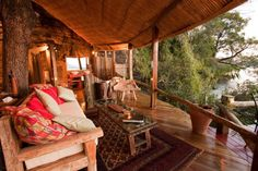 Tongabezi Lodge | Built in an ebony tree, this secluded suite overlooks the Zambezi River, just above Victoria Falls.