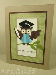 Graduation Owl by stampwithsandy - Cards and Paper Crafts at Splitcoaststampers