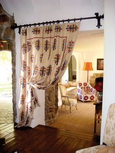 curtain idea for entrance