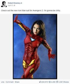 Robert Downey Jr. Shows Off His Funny Side on Facebook! This Hunk Can Really Make You Laugh.
