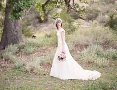 white gowns - lace - and a beautiful tree - timeless