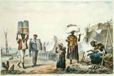 Negroes Selling Coal And Maize by Jean Baptiste Debret (1768-1848, France)