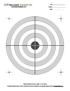 Free Printable Shooting Targets | Firearm Addicts - Forum for Gun Enthusiasts