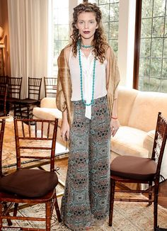 AnnaLynne McCord – a long-time advocate of organisations keen to stop sex trafficking – went to the Women A.R.E gathering wearing chic boho clothing.
