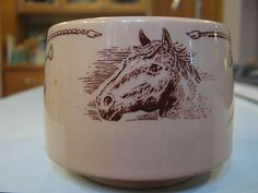 Shenango Stacking Western Horse Restaurant Coffee Cup Mug