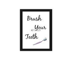 Brush your teeth 2, Plakaty w ramie | Internetowy sklep z obrazami Feeby.pl