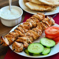 Lebanese Chicken Skewers (Shish Taouk) by The Spice Kit Recipes Middle East Food, Middle Eastern Recipes, Turkey Recipes, Chicken Recipes, Lebanese Chicken, Armenian Recipes, Armenian Food, Eastern Cuisine, Cooking Recipes