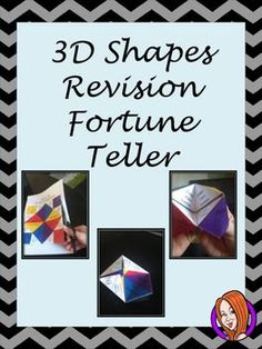 This is a fun way for your children to revise 3D shapes using a fortune teller. Children can make the toy then use it to test each other on the properties of 3D shapes.Included in this download:Full instructions with photosColored fortune teller templateB&W fortune teller template Please ask if you have any questions **************************************************************************My other math products: Grid Method Multiplication Complete Lesson  Numbers to 1,000. 22 Page Worksh...