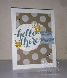 Stampin' Up! - Hello There - ZoKris, Dot masks, Moonlight DSP