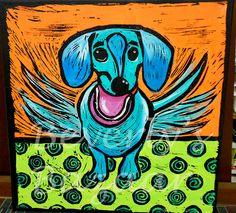 Playful Dachshund Painting by BeverlysBazaar on Etsy