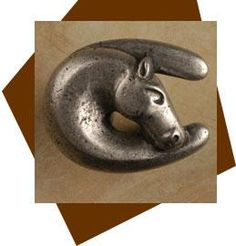 Good Anne At Home Horse Head In Good Luck Horseshoe Cabinet Knob