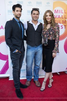 Stana Katic, Raza Jaffrey & Amin Matalqa at the world premiere of the movie 'The Rendezvous' at the Mill Valley Film Festival - Oct 8, 2016