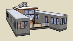 converting a trailer into a house | Semi-trailer Conversion Solar water heating integrated with wood and ...