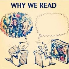 I actually think a lot when watching something, so XP. But reading makes me think a lot too, so this statement isn't all false I Love Books, Good Books, Books To Read, My Books, Reading Quotes, Book Quotes, Reading Books, Bookworm Quotes, Humour Quotes