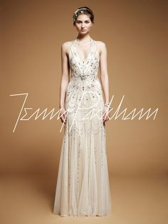 Art Nouveau Wedding Gown || Jenny Packham Luna    I'll never be able to afford any jenny packham dress unless it was found on the side of the road or something but this is SO beautiful.