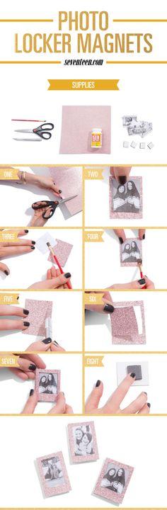 How to Make Photo Locker Magnets