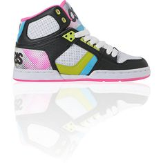 The sickest colors in the most action friendly girls shoe, the NYC 83 Slim is a bright-colored skate sneaker with hypertone pop-color detailing and a super durable synthetic leather, perforated leather, and polyurethane upper, soft molded EVA insole for added comfort and support, high-top skate shoe silhouette, combination lacing system for improved fit and a quality cupsole construction. Strap these on, and it's hard to not 1) break-dance 2) skateboard 3) run, jump, and play.