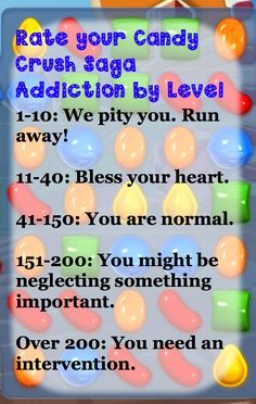 Candy Crush Saga – Just a Harmless Crush? @Victoria Brown Garcia looks like you need that candy crush rehab afterall right @O.B. Wellness Coca